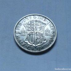 Monnaies anciennes de Europe: MONEDA DE PLATA DE MEDIA 1/2 CORONA DEL REY JORGE V DE GRAN BRETAÑA AÑO 1936 MBC. Lote 289751468