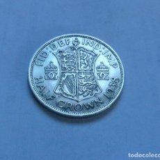 Monnaies anciennes de Europe: MONEDA DE PLATA DE MEDIA 1/2 CORONA DEL REY JORGE VI DE GRAN BRETAÑA AÑO 1938 EBC. Lote 289751798
