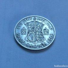 Monedas antiguas de Europa: MONEDA DE PLATA DE MEDIA 1/2 CORONA DEL REY JORGE VI DE GRAN BRETAÑA AÑO 1940 MBC. Lote 289752068