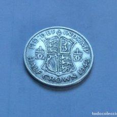 Monedas antiguas de Europa: MONEDA DE PLATA DE MEDIA 1/2 CORONA DEL REY JORGE VI DE GRAN BRETAÑA AÑO 1942. Lote 289752303