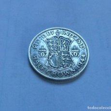 Monnaies anciennes de Europe: MONEDA DE PLATA DE MEDIA 1/2 CORONA DEL REY JORGE VI DE GRAN BRETAÑA AÑO 1944. Lote 289752648