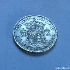 Monnaies anciennes de Europe: MONEDA DE PLATA DE MEDIA 1/2 CORONA DEL REY JORGE VI DE GRAN BRETAÑA AÑO 1945 EBC. Lote 289752893