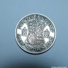 Monedas antiguas de Europa: MONEDA DE PLATA DE MEDIA 1/2 CORONA DEL REY JORGE VI DE GRAN BRETAÑA AÑO 1945 EBC. Lote 289753388