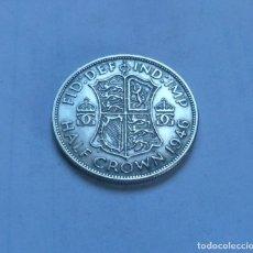 Monedas antiguas de Europa: MONEDA DE PLATA DE MEDIA 1/2 CORONA DEL REY JORGE VI DE GRAN BRETAÑA AÑO 1946. Lote 289753768