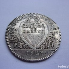 Monedas antiguas de Europa: 15SCL17 SUIZA CANTON VAUD 10 BATZEN DE PLATA 1823. MUY RARA. TIRADA 6.198. Lote 289754253