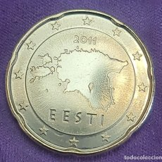 Monedas antiguas de Europa: ESTONIA 2011 20 CTS CÉNTIMOS SC MONEDA 20 EURO CENT SIN CIRCULAR. Lote 289754543