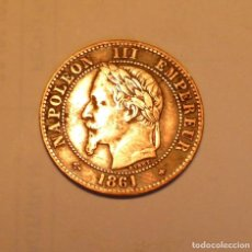 Monedas antiguas de Europa: MONEDA DE 2 CENTIMOS DEL EMPERADOR NAPOLEON III AÑO 1861 CECA DE PARIS SIN CIRCULAR. Lote 289904273