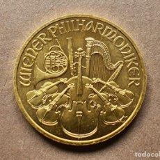 Monedas antiguas de Europa: MONEDA 1/4 ONZA FILARMÓNICA ORO PURO 999 AUSTRIA 2021. Lote 291040143