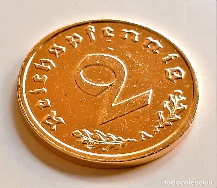 Monedas antiguas de Europa: MONEDA DE ORO 24.KT. ALEMANA 2 REICHSPHENNIG 1939 - Foto 5 - 291255583