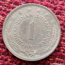 Monedas antiguas de Europa: YUGOSLAVIA 1 DINAR 1981. Lote 293432923