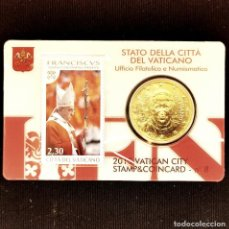 Monete antiche di Europa: ⚜️ COIN CARD N° 8. 50 CÉNTIMOS 2015. VATICANO. Lote 293520738