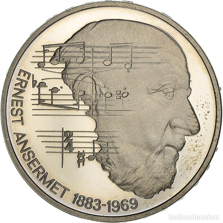 [#950558] MONEDA, SUIZA, 100TH ANNIVERSARY - BIRTH OF ERNEST ANSERMET, 5 FRANCS, 1983, BE (Numismática - Extranjeras - Europa)