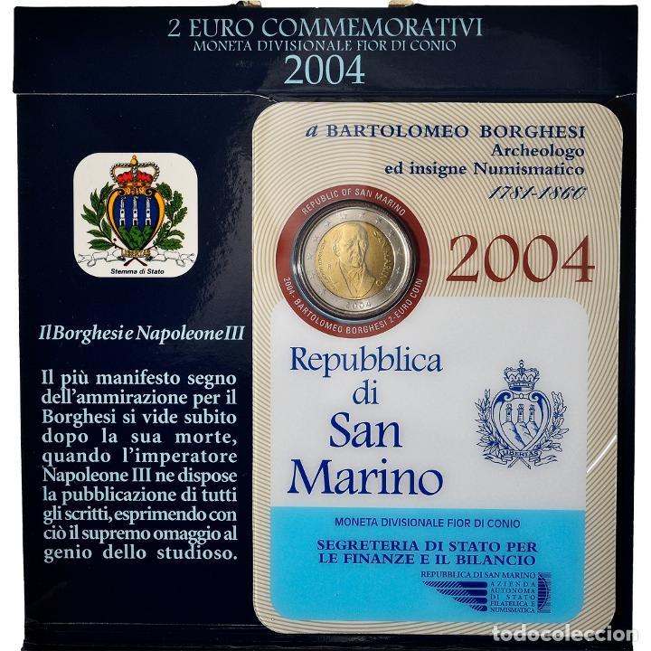 [#898485] SAN MARINO, 2 EURO, BARTOLOMEO BORGHESI, 2004, ROME, FDC, SIN INFORMACIÓN (Numismática - Extranjeras - Europa)