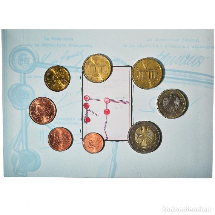 [#898483] FRANCIA, SET, 40TH ANNIVERSARY OF THE ELYSÉE TREATY, 2003, FDC, SIN (Numismática - Extranjeras - Europa)