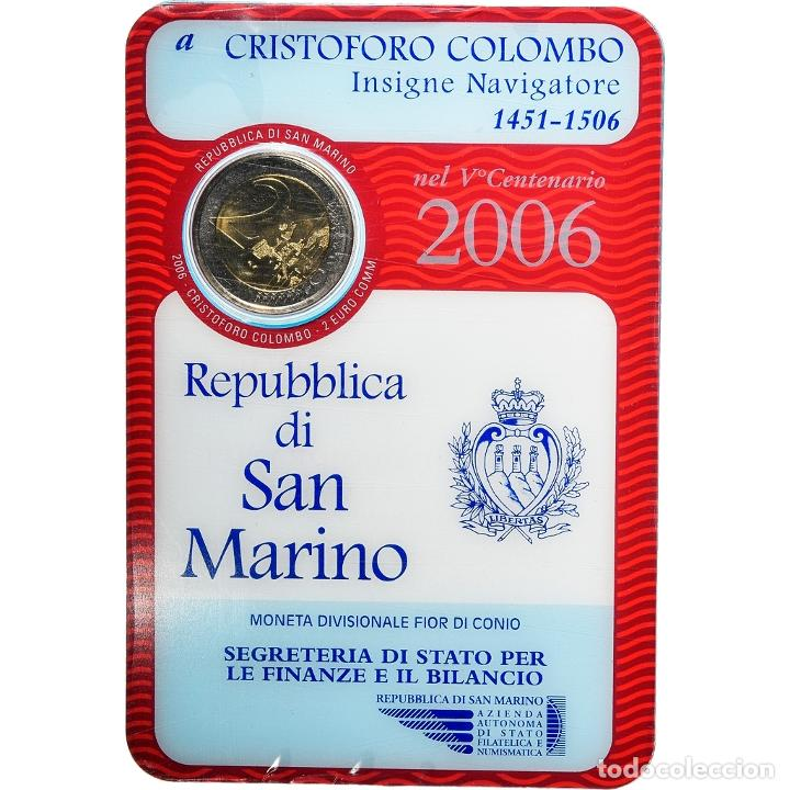[#898474] SAN MARINO, 2 EURO, CHRISTOPHE COLOMB, 2006, ROME, FDC, BIMETÁLICO (Numismática - Extranjeras - Europa)