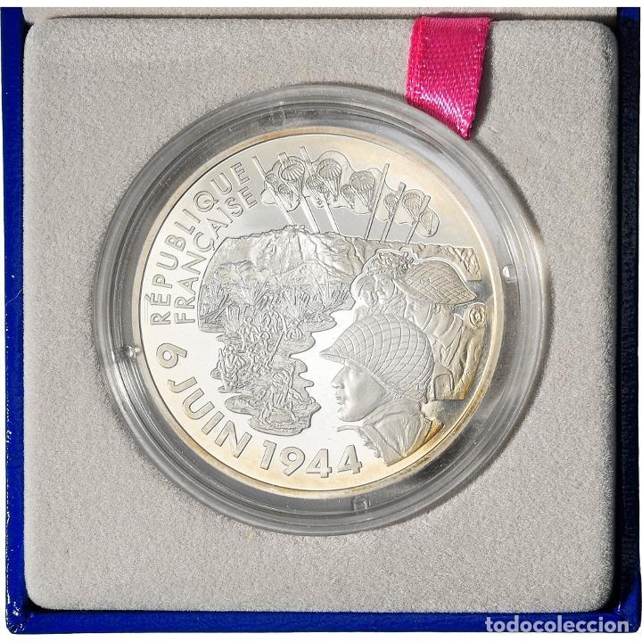 [#898491] FRANCIA, 1-1/2 EURO, 6 JUIN 1944 - DÉBARQUEMENT DE NORMANDIE, 2004, PARIS, SC (Numismática - Extranjeras - Europa)