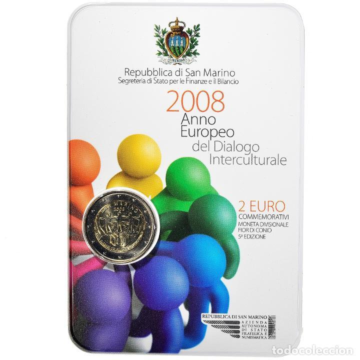 [#898476] SAN MARINO, 2 EURO, EUROPEAN YEAR OF INTERCULTURAL DIALOGUE, 2008, FDC (Numismática - Extranjeras - Europa)