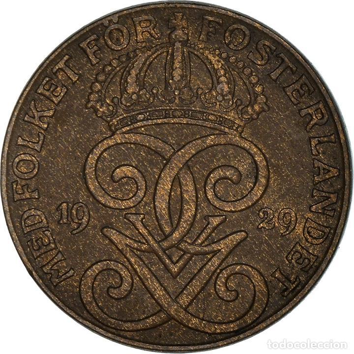 [#950501] MONEDA, SUECIA, GUSTAF V, 2 ÖRE, 1929, MBC, BRONCE, KM:778 (Numismática - Extranjeras - Europa)