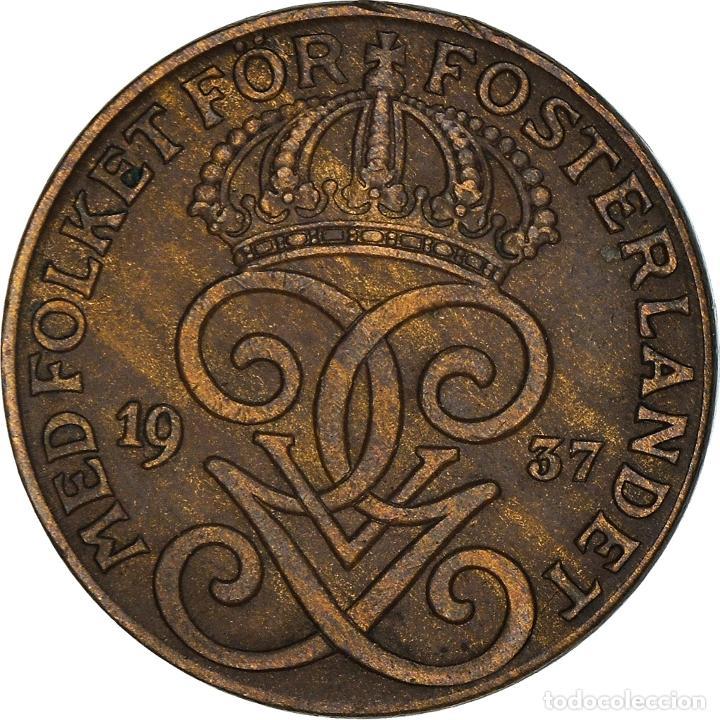 [#950522] MONEDA, SUECIA, GUSTAF V, 2 ÖRE, 1937, MBC+, BRONCE, KM:778 (Numismática - Extranjeras - Europa)
