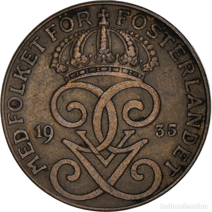 [#950516] MONEDA, SUECIA, GUSTAF V, 2 ÖRE, 1935, MBC, BRONCE, KM:778 (Numismática - Extranjeras - Europa)