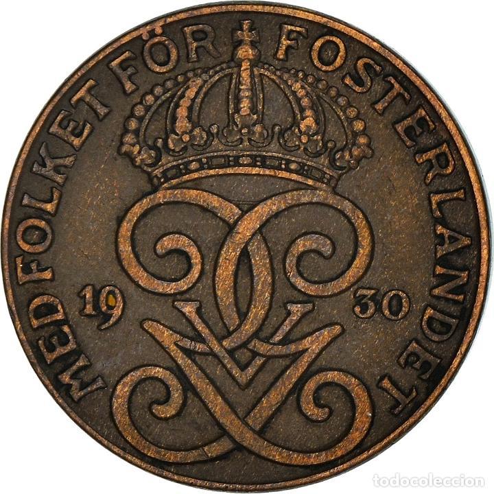 [#950504] MONEDA, SUECIA, GUSTAF V, 2 ÖRE, 1930, MBC+, BRONCE, KM:778 (Numismática - Extranjeras - Europa)