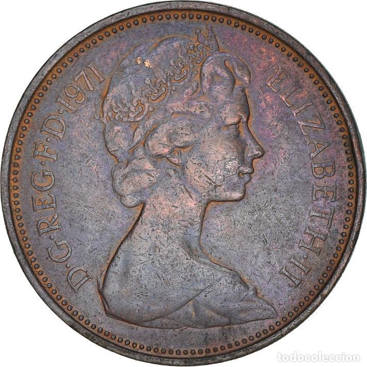 [#365852] MONEDA, GRAN BRETAÑA, ELIZABETH II, 2 NEW PENCE, 1971, MBC, BRONCE, KM:916 (Numismática - Extranjeras - Europa)