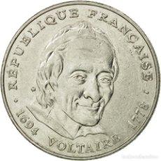 Monedas antiguas de Europa: [#536023] MONEDA, FRANCIA, VOLTAIRE, 5 FRANCS, 1994, PARIS, MBC, NÍQUEL, KM:1063, LE. Lote 294118673