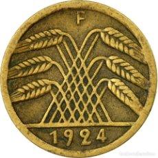 Monedas antiguas de Europa: [#531003] MONEDA, ALEMANIA - REPÚBLICA DE WEIMAR, 5 RENTENPFENNIG, 1924, STUTTGART, BC+. Lote 294120128