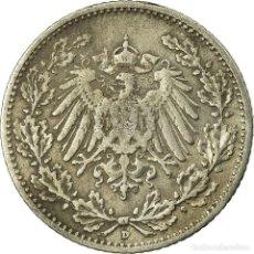 Monedas antiguas de Europa: [#735533] MONEDA, ALEMANIA - IMPERIO, 1/2 MARK, 1906, MUNICH, MBC, PLATA, KM:17. Lote 294121713