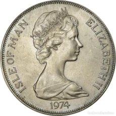 Monedas antiguas de Europa: [#756680] MONEDA, ISLA DE MAN, ELIZABETH II, CROWN, 1974, POBJOY MINT, EBC, COBRE -. Lote 294122223
