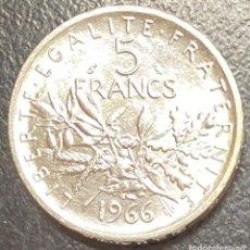 Monedas antiguas de Europa: FRANCIA, MONEDA DE PLATA DE 5 FRANCOS, AÑO 1966. Lote 294133798