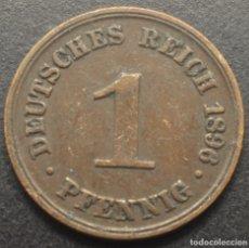 "Monedas antiguas de Europa: ALEMANIA, 1 PENIQUE 1896 - MARCA DE CECA ""A"" - BERLÍN. Lote 294510963"