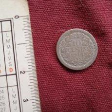 Monedas antiguas de Europa: HOLANDA 10 CENTS DE PLATA 1914. Lote 295350908