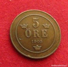 Monedas antiguas de Europa: SUECIA 5 ORE 1905. Lote 295517458