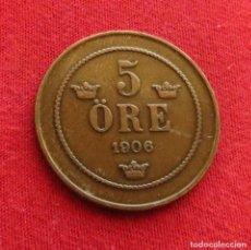 Monedas antiguas de Europa: SUECIA 5 ORE 1906. Lote 295517568