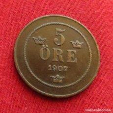 Monedas antiguas de Europa: SUECIA 5 ORE 1907. Lote 295517623