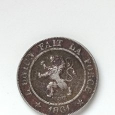Monedas antiguas de Europa: BELGICA, 10 CENTIMOS DE 1861, KM22. Lote 295517748