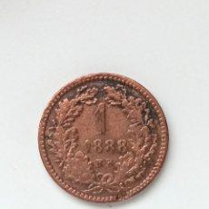 Monedas antiguas de Europa: HUNGRIA, 1 KRAJCZÁR DE 1888 KB, KM# 458 - MBC+. Lote 295518543