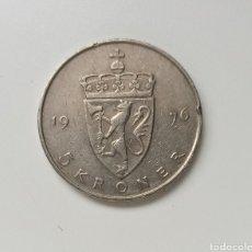 Monedas antiguas de Europa: NORUEGA, 5 CORONAS DE 1976, KM# 420. Lote 295523493