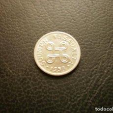 Monedas antiguas de Europa: FINLANDIA 1 MARCO 1955. Lote 295740783