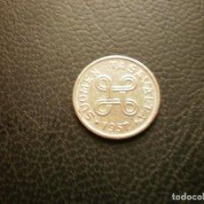 Monedas antiguas de Europa: FINLANDIA 1 MARCO 1957. Lote 295740903