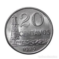 Monedas antiguas de Europa: BRASIL 20 CENTAVOS 1979. Lote 296628888