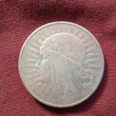 Monedas antiguas de Europa: 10 ZLOTY DE PLATA DE 1932. POLONIA. REINA JADWIGA. Lote 296754543