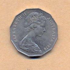 Monedas antiguas de Oceanía: N48 - AUSTRALIA - ISABEL II - 50 CENTAVOS 1970. Lote 14806936