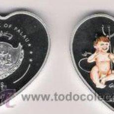 Monedas antiguas de Oceanía: PALAU 5 DOLAR 2007 CON FORMA DE CORAZON GOOD HEAVENS!. Lote 21530193