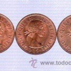 Monedas antiguas de Oceanía: LOTE DE 3 MONEDAS. ONE PENNY 1964. NEW ZEALAND. S/C.. Lote 29127502