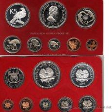 Monedas antiguas de Oceanía: PAPUA NUEVA GUINEA, ESTUCHE CON 8 MONEDAS, 2 DE PLATA.. Lote 24318212