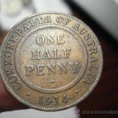 Monedas antiguas de Oceanía: 27 RARA AUSTRALIA MONEDA DE HALF PENNY AÑO 1914 H OCASION !!!! A DIARIO MONEDAS A PRECIOS BAJOS. Lote 27834163