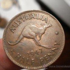 Monedas antiguas de Oceanía: 29 AUSTRALIA MONEDA DE HALF PENNY AÑO 1947 OCASION !!!! A DIARIO MONEDAS A PRECIOS BAJOS. Lote 27834167