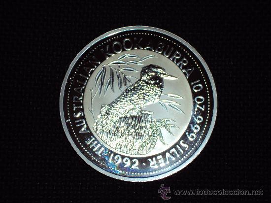 Monedas antiguas de Oceanía: .(MP-2)AUSTRALIA 10 DOLAR KOOKABURRA 1992 , 10 ONZAS DE PLATA - Foto 2 - 30666420